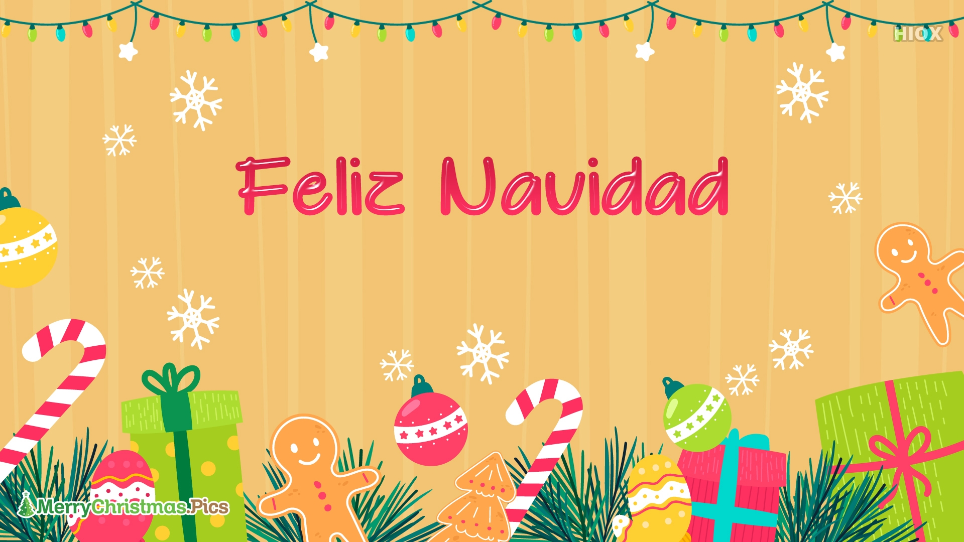 Feliz Navidad Desea A Amigos