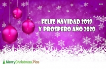 Feliz Navidad 2019 Y Prospero Año 2020