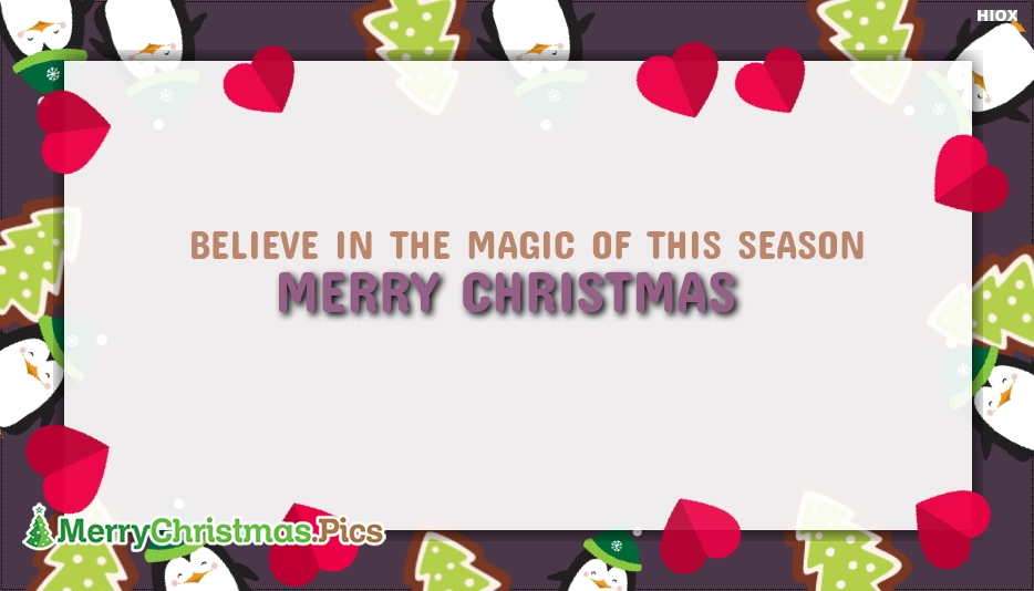 Believe In The Magic Of This Season. Merry Christmas