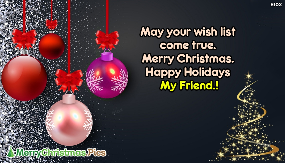 Merry Christmas Wishes Wallpaper
