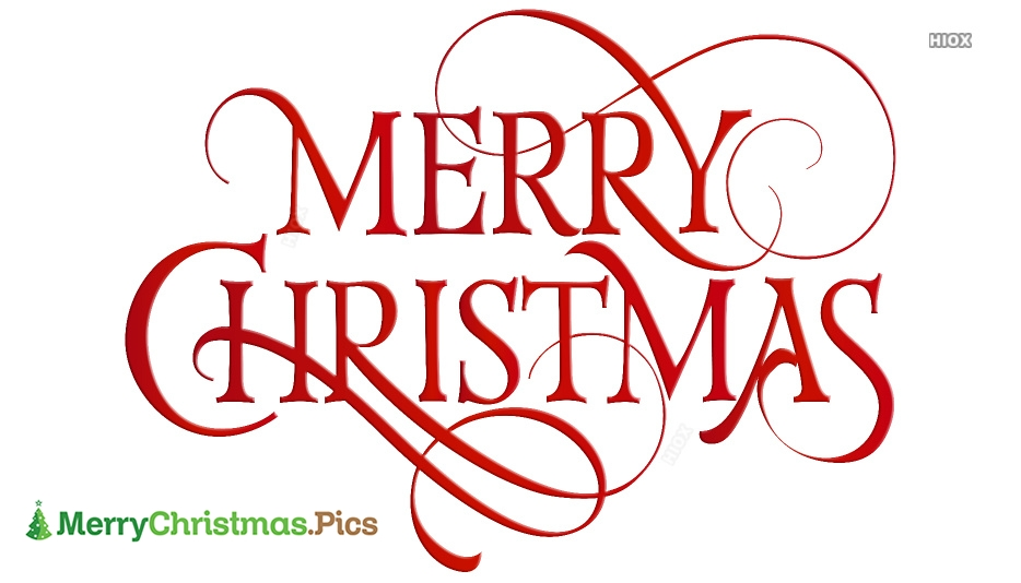 Merry Christmas In Fancy Letters