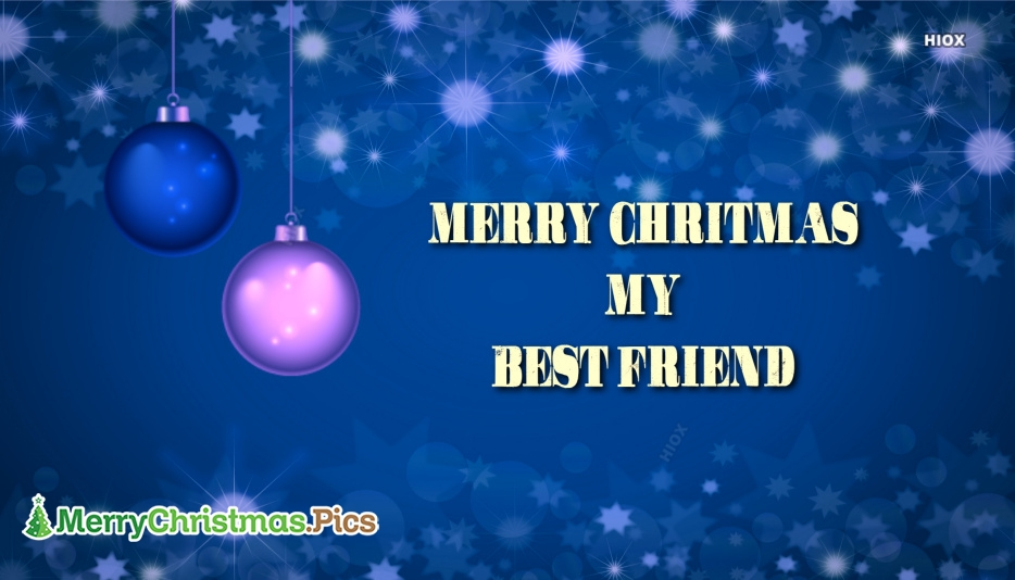 Merry Christmas Images for Best Friend