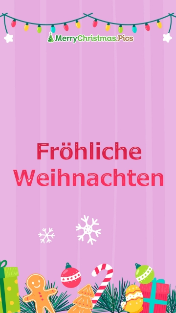 Merry Christmas Wishes To Everyone In German