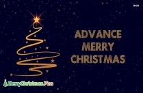 Advance Merry Christmas Image