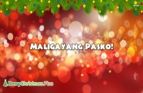 Advance Merry Christmas In Tagalog