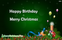 Happy Birthday And Merry Christmas Image