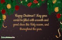 Blissful And Happy Christmas