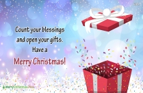 Happy And Healthy Christmas.