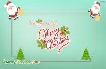 Merry Christmas To You And Yours Image