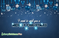 I Want To Wish You A Merry Christmas Message