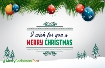 I Wish For You A Merry Christmas