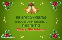 Magical Merry Christmas To All