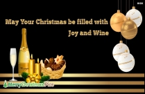 May Your Christmas Be Filled With Joy And Wine