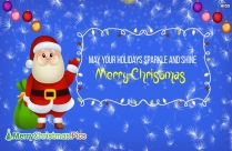 May Your Holidays Sparkle And Shine Quotes