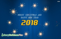 Merry Christmas And Prosperous New Year Image