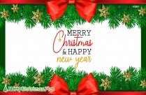Merry Christmas And Happy New Year Pic