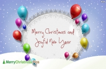 Happy Christmas And New Year Greeting