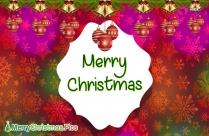 Merry Christmas Balls Pic