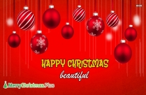 Merry Christmas Beautiful