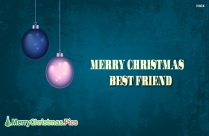 Merry Christmas Best Friend Image