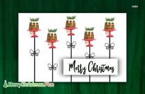Merry Christmas Cake Wallpaper