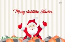 Merry Christmas Card For Teacher