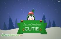 Merry Christmas Cutie Image