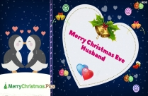 Merry Christmas Eve Husband Image