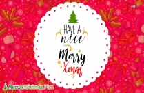 Merry Christmas Font Design