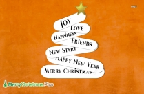 Merry Christmas For Friends