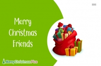 Merry Christmas Message For Friends