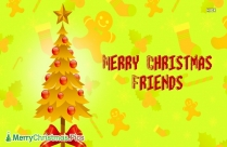 Merry Christmas Friends Image
