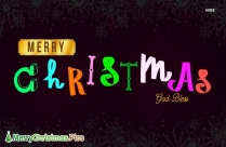 Merry Christmas God Bless Picture