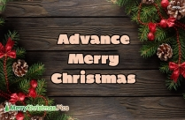Merry Christmas In Advance Gif