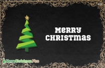 Merry Christmas Card with Black Background