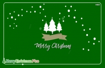 Merry Christmas In Green Image