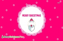 Merry Christmas Greeting In Pink