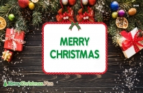 Merry Christmas In Wood Image