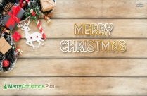 Merry Christmas In Wood