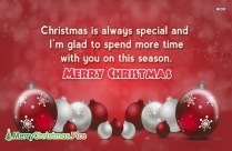 Merry Christmas Message For Loved One