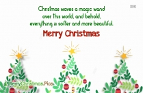 merry christmas message card