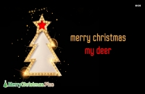 Merry Christmas My Deer Image