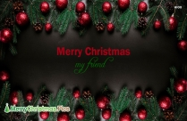 Merry Christmas My Friend Image