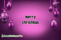 Merry Christmas Purple Image