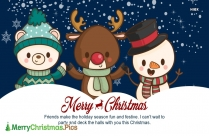 Merry Christmas Friend Pic