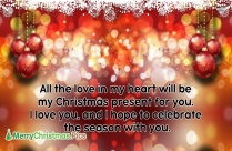 Merry Christmas My Love Gif