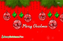 Merry Christmas Red Background, Image
