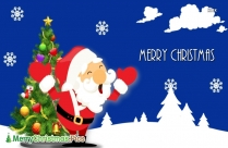Merry Christmas Santa Image
