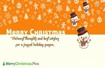 Merry Christmas Saying