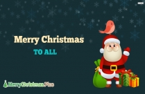 Merry Christmas Everyone Message